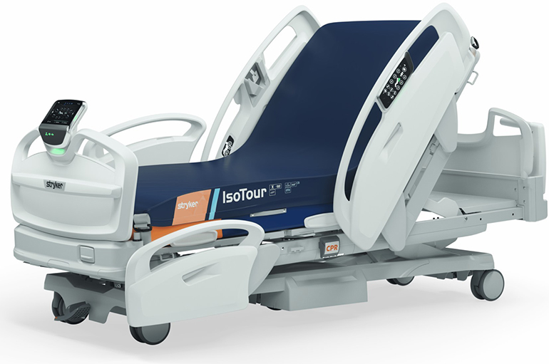Stryker dévoile un lit médicalisé sans fil intelligent